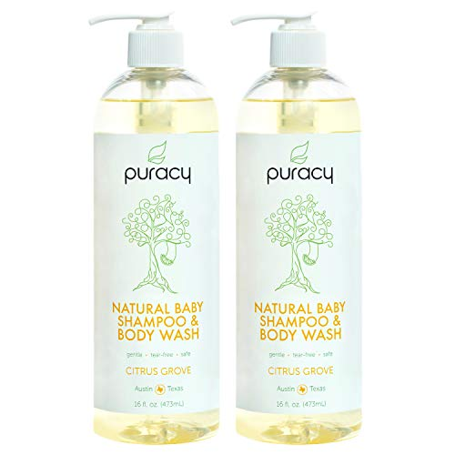 Old World Cradle - Puracy Natural Baby Shampoo & Body Wash, Tear-Free Soap, Sulfate-Free, 16 Ounce (2-Pack)