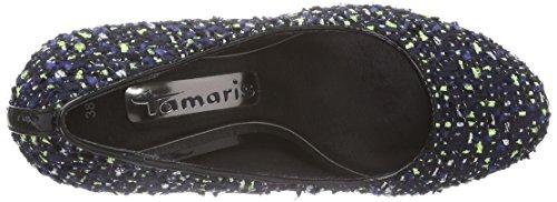 Tamaris 22412 - zapatos de tacón cerrados de material sintético mujer multicolor - Mehrfarbig (Navy Comb 890)