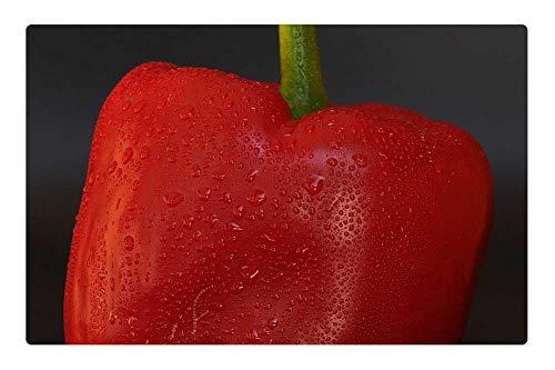 Tree26 Indoor Floor Rug/Mat (23.6 x 15.7 Inch) - Paprika Red Red Pepper Vegetables Food Healthy