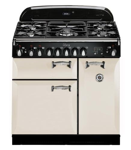 AGA ALEG36-DF-IVY Legacy Series 36'' Freestanding Pro-Style Dual Fuel Range with 5 Sealed Burners 2.2 cu. ft. Convection Oven 1.8 cu. ft. 7 Mode Multifunction Oven and Solid Doors in by AGA