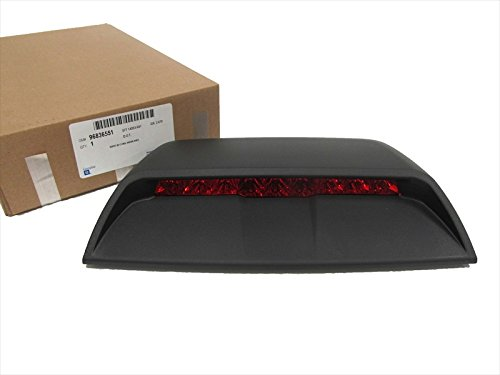 UPC 616043038414, 96836551 New OEM 2011-15 Cruze High Mount Brake Light Lamp Black Ebony