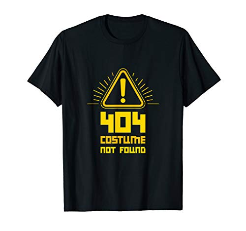 404 Error - Costume Not Found - Computer Nerd Shirt ()