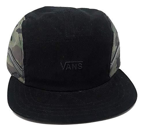 (Vans Men's Sidestripe 5-P Hat One-Size Black/Camo VN0A3MYUCMA)