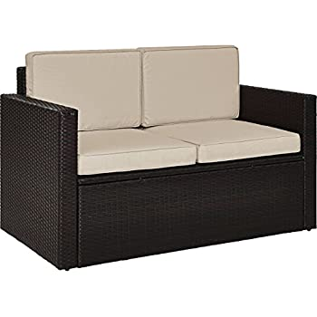 Amazon.com: Crosley Furniture Kiawah - Sofá de mimbre para ...