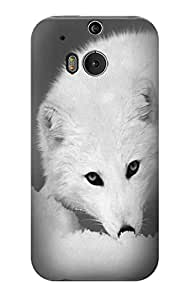 E2569 White Arctic Fox Funda Carcasa Case para HTC ONE M8