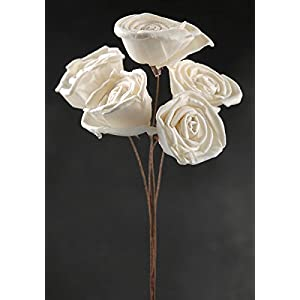 Way Home Fair White Sola Roses Wired Stems 5 Flowers 65