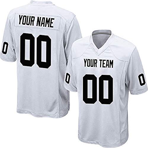 ytgls Custom Football Team Designated Player Game Jersey #3-#18Youth MPurple-White