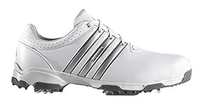 Adidas 360 Traxion WD, Zapatos de Golf para Hombre, Gris/Blanco/Azul, 41.3 EU