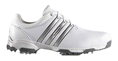 adidas Men's 360 Traxion WD Golf Shoes, White (White/Silver Metallic/Dark