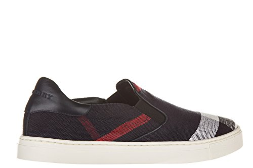 Burberry slip on homme sneakers copford toile check blu