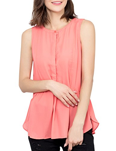 Margin Point Version Women's Summer Sleeveless Tank Top Casual Plain Blouse Shirt