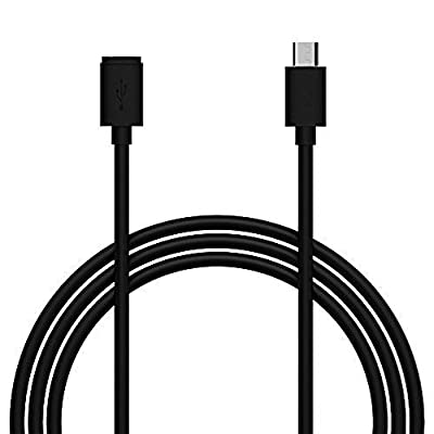 6ft USB Micro-B Male/Female Extension Cable by Wasserstein, Compatible with Wasserstein and Ring Solar Panel for Ring Stick Up Cam