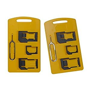 hexteq. Adaptador de tarjetas SIM 4 en 1 de Juego (Nano a ...