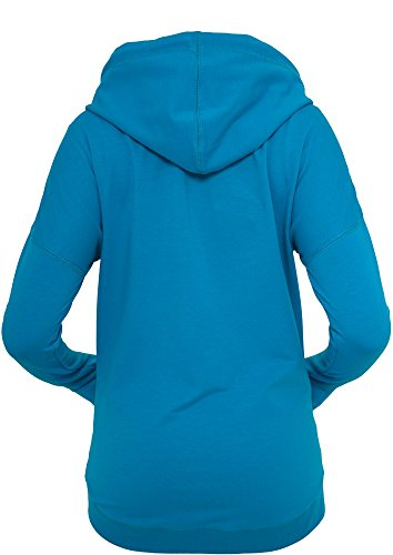 Urban Classics Ladies Long Zip Hoody Turquesa