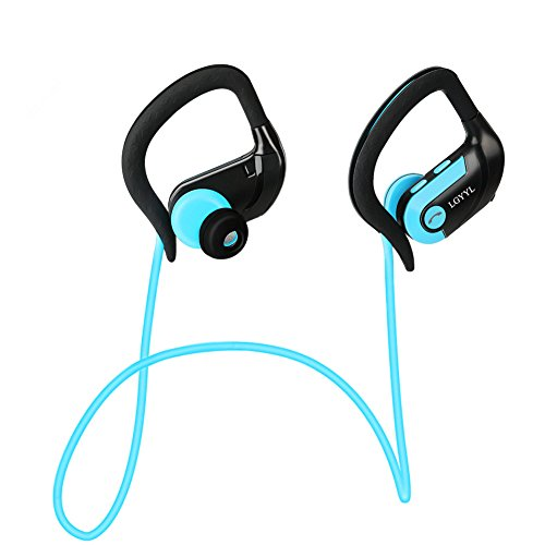 Bluetooth Headphones Wireless Headphones Wireless Earbuds Bluetooth Earbuds Headsets with Mic Sports Running LGYYL HD Stereo Sweatproof for Car Gym Workout iPhone X Android (blue)