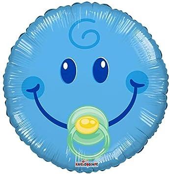 Bargain Balloons Globo Mylar Redondo con Sonrisa y Chupete ...