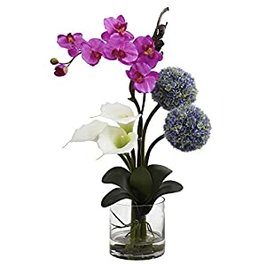 Nearly Natural 1334 Calla Orchid and Ball Flower Arrangement 49
