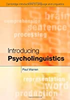Introducing Psycholinguistics Front Cover