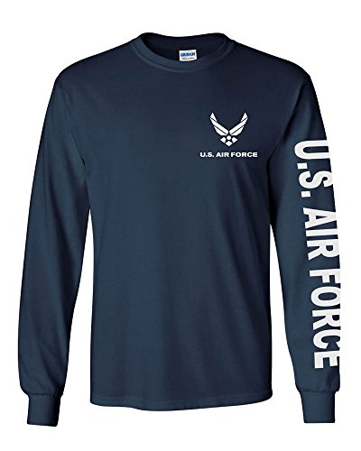U.S. Air Force long sleeve T-shirt. Navy Blue (Large, Navy Blue)