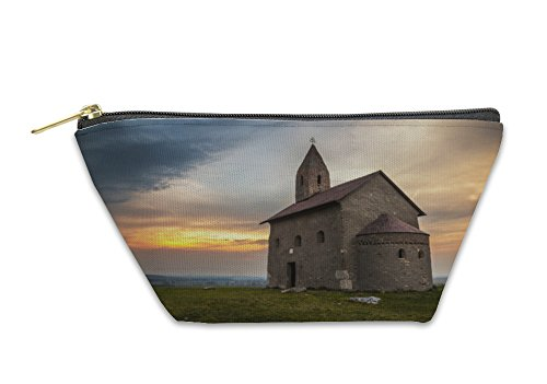 Gear New Accessory Zipper Pouch, Old Roman Church At Sunset In Drazovce Slovakia, Large, 6007705GN by Gear New