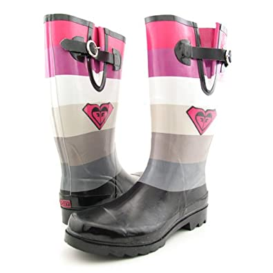 Amazon.com | Roxy Puddles Black-Pink Juniors Rain Boots (9) | Shoes
