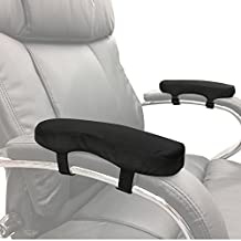 Memory Foam Soft Chair Arm Pad. Velcro to Existing Armrest. Upgrade and Protect your Chair, and Cushion Chair Armrests. Complete Set of 2. Simple Installation.