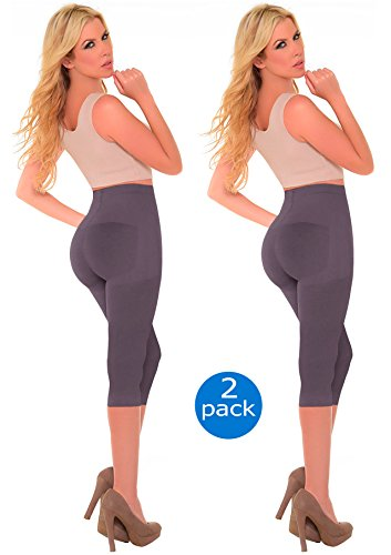 Capri Body Shaper (Laty Rose Women Butt Lifter Enhancer Panties Slimmer Tummy Control Booty Shaper Extra Firm Shapewear Panty Calzones Levanta Cola Colombiano Beige L)