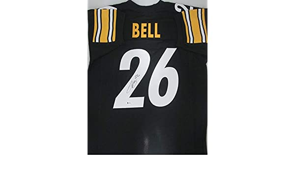 94c092ad4 Steelers Running Back Le Veon Bell Autographed Signed Custom Jersey  Signature Signature - Beckett Authentic at Amazon s Sports Collectibles  Store