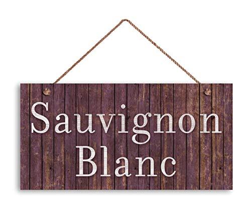 MAIYUAN Sauvignon Blanc Wine Sign, Distressed Wood Style, 5'x10' Tuscan Decor,...