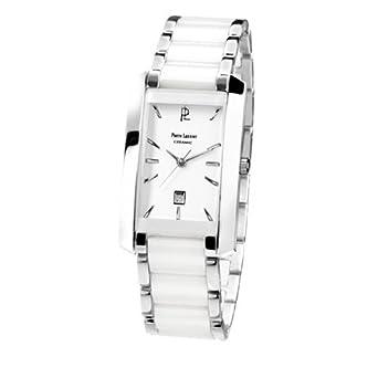 Pierre Lannier Damen-Armbanduhr Analog Edelstahl weiß 057G929