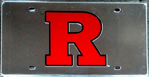 Rutgers Scarlet Knights SD62043 SLV Deluxe Laser License Plate Tag University of (Rutgers License Plate)