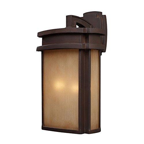 (ELK 42142/2, Sedona Outdoor Wall Sconce Lighting, 40 Total Watts, Clay Bronze)