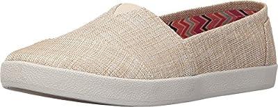 TOMS Women's Avalon Slip-On Natural Metallic Linen Loafer