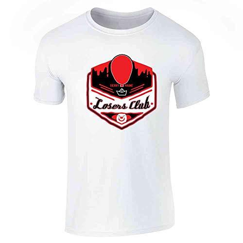 Pop Threads Losers Club Derry Maine Logo Horror Halloween White XL Short Sleeve T-Shirt