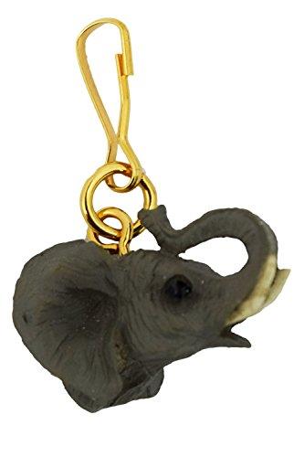 Elephant Safari Zoo Animal Figurine Zipper Pull Charm
