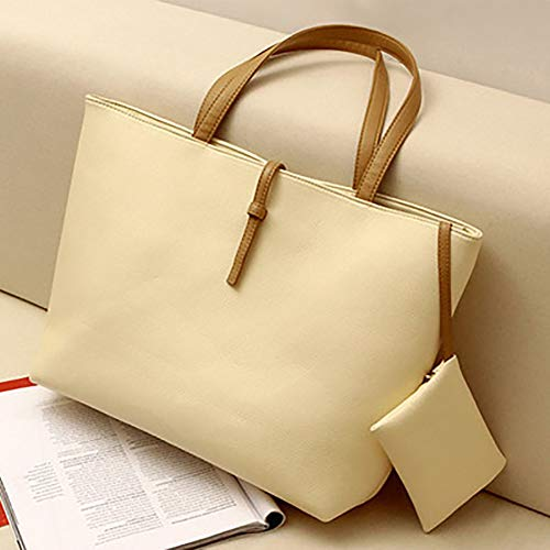 Yeshai3369 rosso Bolso Verde Bolsas Tote Claro Mujer Color Moda PU Sólido Oficina Cuero Hombro de TxPTCqr7w