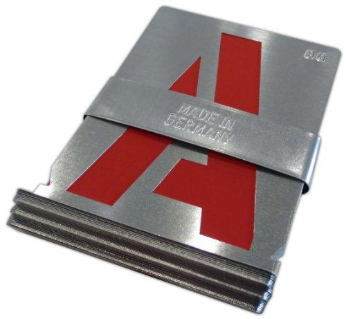 Signierschablonen Alphabet A-Z (27 Stk) 100 mm Großbuchstaben starkes Zinkblech Blockschrift DIN 1451 Made in Germany