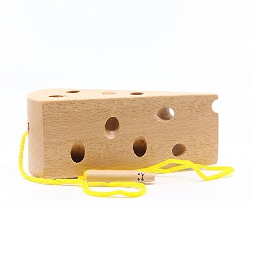 LOOBANI Montessori Activity Wooden Baby and Kids Cheese Toys Toddler Travel L...