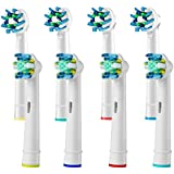Compatible Replacement Toothbrush Heads Refill for Braun Oral b Electric Toothbrush Pro 1000 Pro 3000 Pro 5000 Pro 7000 Vitality 4 Floss Action Heads Plus 4 Cross Action Heads