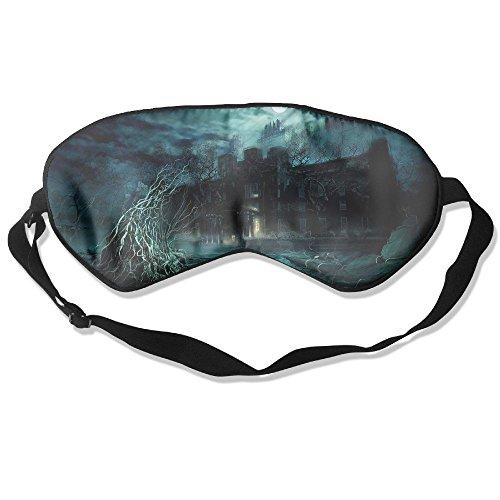 Silk Sleeping Mask Eye Attractive Stunning Ghost House Lightweight Soft Adjustable Strap Blindfold for Night's Sleep Nap Travel Eyeshade Men and ()