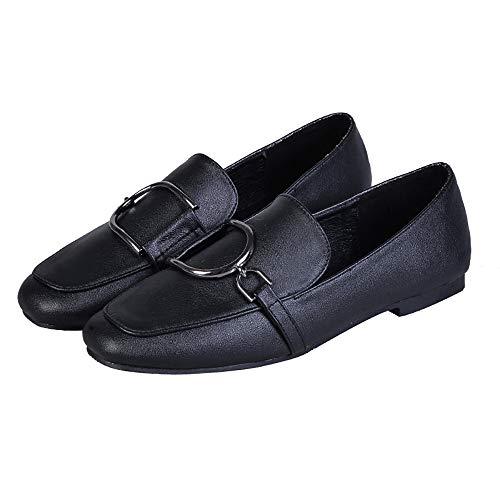 c9580623a69 Jual Meeshine Women Slip-On Loafers Buckle Fur Lined Slippers Flat ...
