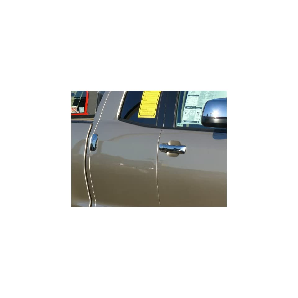 Toyota Tundra Double Cab (with Keyless Entry) Truck 2007   2011 Chrome ABS Door Handle Insert Accent Valutrim