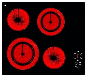 Tecnogas Italy placa de horno eléctrico vitrocerámica con 4 ...