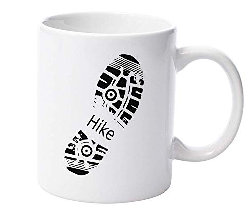 Hike Boot Footprint Great Outdoors Ceramic Mug for Tea and Coffee