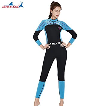 Dive & Sail Mujer Manga Larga 3 Mm traje de neopreno ...