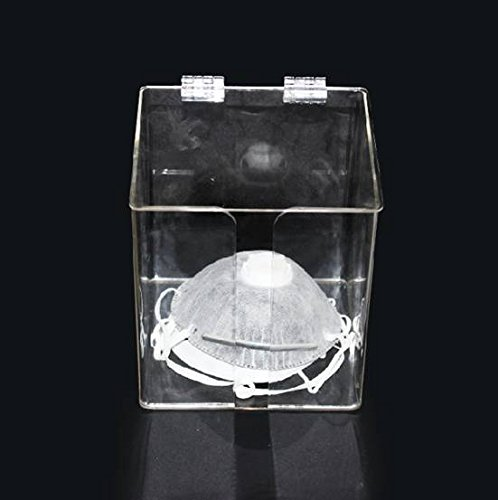 SDent USA FDA & TUV CE Dental Acrylic Formed Portfolio Place Set Acrylic Stand for Gauze Mask Acrylic Dispenser Small Size 162145189mm for Disposable Moulded Mask Holder