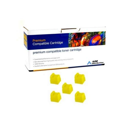 AIM Compatible Replacement for Xerox Phaser 8200 Yellow Solid Ink Sticks (5/PK-7000 Page Yield) (016-2047-00) - Generic