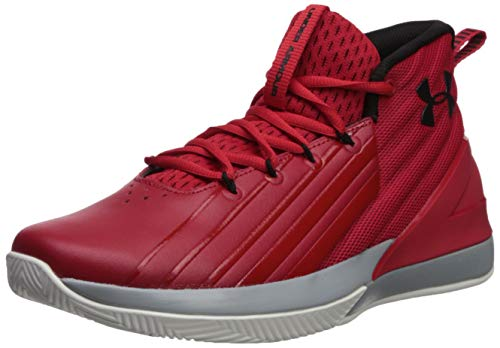 Under Armour Men's Launch Basketball Shoe, Red (600)/Black, 10.5