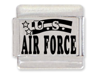 Air Force Laser Italian Charm Bracelet Link