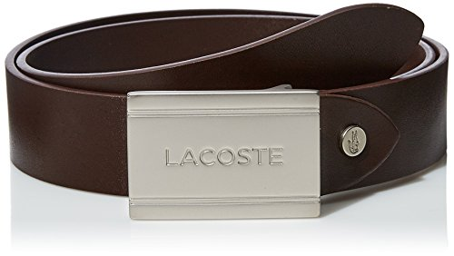 Lacoste Men's 35 Raw Edges, Rc8005 Accessory, -brown, 85 (Belt Brown Lacoste)